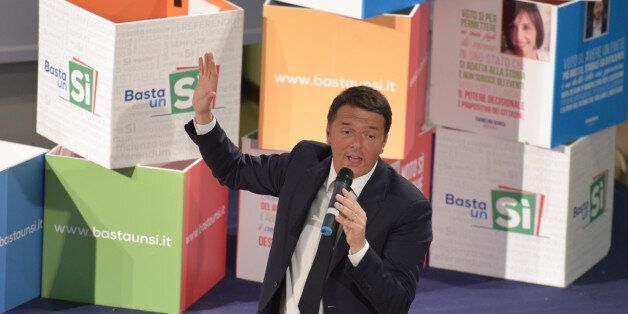 MOSTRA D'OLTREMARE, NAPOLI, ITALY - 2016/12/01: The President of the Council Matteo Renzi in support...