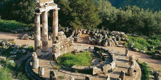 UNSPECIFIED - NOVEMBER 01: Greece - Delphi - Sanctuary of Athena Pronaia - Tholos (380 back.) (Photo...