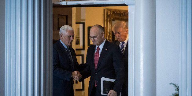 BEDMINSTER TOWNSHIP, NJ - NOVEMBER 19: President-elect Donald Trump, Vice President-elect Mike Pence...