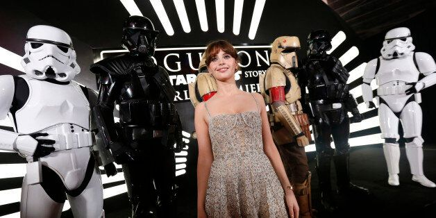 Actress Felicity Jones arrives at the world premiere of the