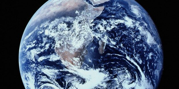 EARTH FROM SPACE SHOWING AFRICA AND ARABIAN