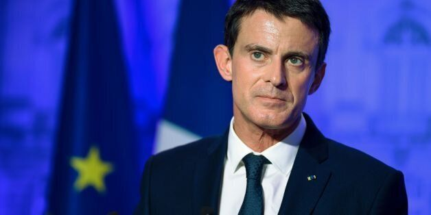 French Prime Minister Manuel Valls delivers a speech at the prefecture of Meurthe-et-Moselle on December...
