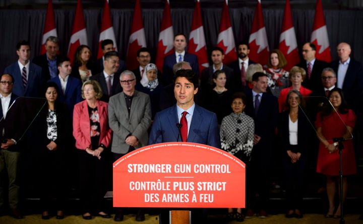 Liberal Leader Justin Trudeau speaks during an announcement in Toronto on Sept. 20, 2019.