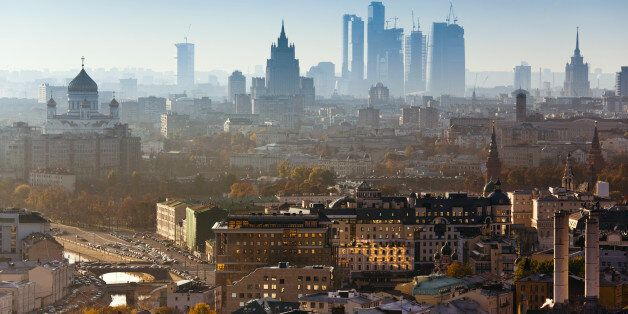 Moscow city. Bird's eye