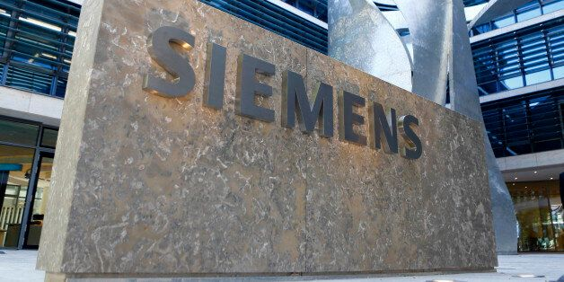 FILE - In this June 24, 2016 file picture the logo of German industrial conglomerate Siemens is pictured...