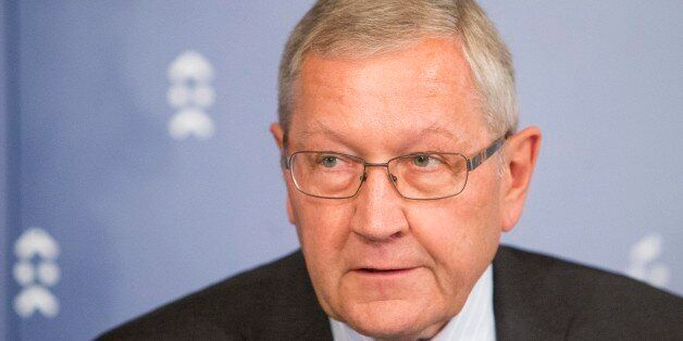 ESM Managing Director Klaus Regling during press conference after the Eurogroup's deliberations at the...