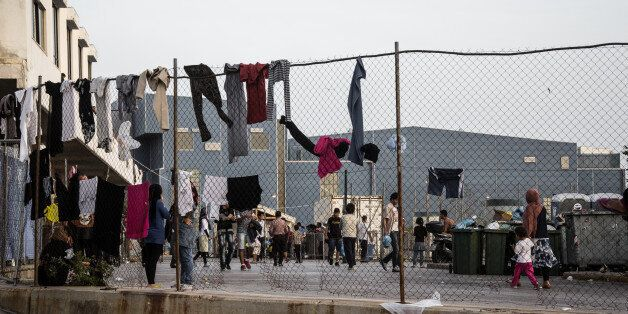 Living conditions at the Ellinikon hotspot; the premises of the old airport in Athens, Greece, on May...