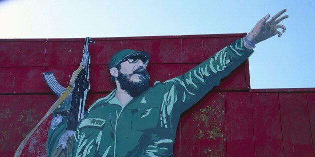 Billboard honoring Fidel Castro,