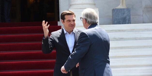 MAXIMOU MANSION, ATHENS, ATTIKI, GREECE - 2016/06/21: Dialogue between Greek Prime Minister Alexis Tsipras...
