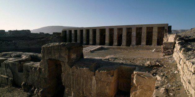 EGYPT - FEBRUARY 22: Temple of Seti I, 1306-1290 bC, Abydos, Egypt. Egyptian civilisation, New Kingdom,...