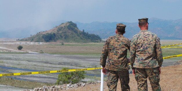 CROW VALLEY, CAPAS, TARLAC, PHILIPPINES - 2016/04/14: Advanced ground and air US military armaments were...