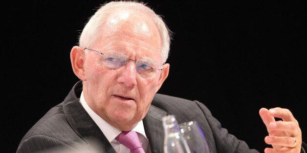 German Finance Minister Wolfgang Schaeuble attends the European Banking Congress EBC in Frankfurt am...