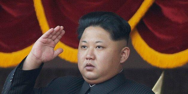 FILE - In this Oct. 10, 2015, file photo, North Korean leader Kim Jong Un salutes at a parade in Pyongyang,...