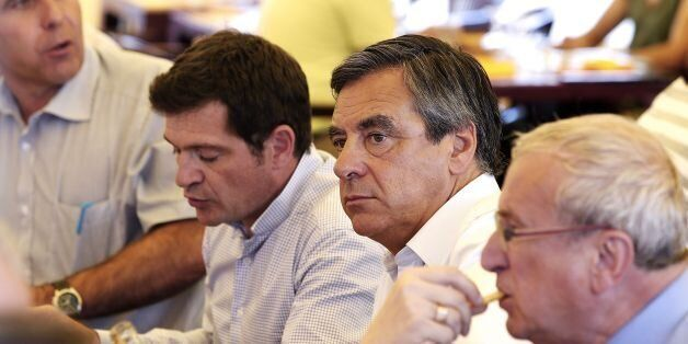 Former French Prime Minister and candidate for the right-wing Les Republicains (LR) party primary ahead...