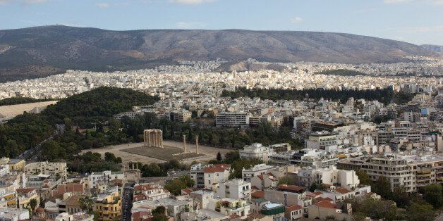 A panoramic view of Athens from the