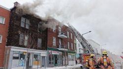 Incendie sur la rue Ontario à