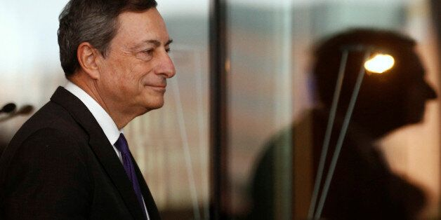 European Central Bank (ECB) President Mario Draghi attends a meeting with German lawmakers in Berlin,...