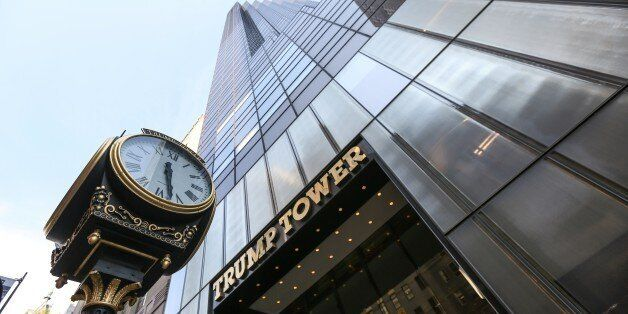 NEW YORK, NY - AUGUST 18: View of the Trump Tower building seen in New York, NY on August 18, 2015. According...