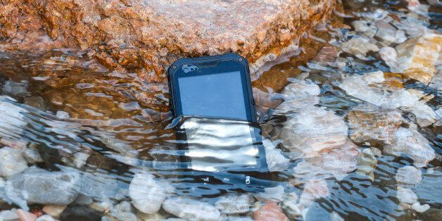 Waterproof, dustproof, shockproof mobile phone with touchscreen