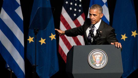 «Ζήτω η Ελλάς»: Αυτά είναι τα 24 σημεία της ομιλίας Ομπάμα που χειροκροτήθηκαν από το