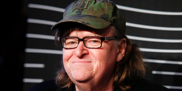 FILE - In this May 16, 2016 file photo, Michael Moore attends the 20th Annual Webby Awards at Cipriani...