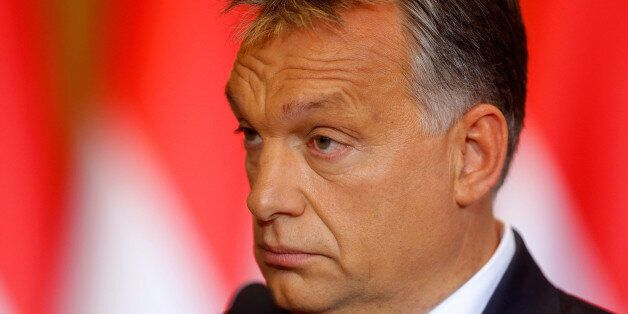 Hungarian Prime Minister Viktor Orban attends a news conference in Budapest, Hungary, October 4, 2016....