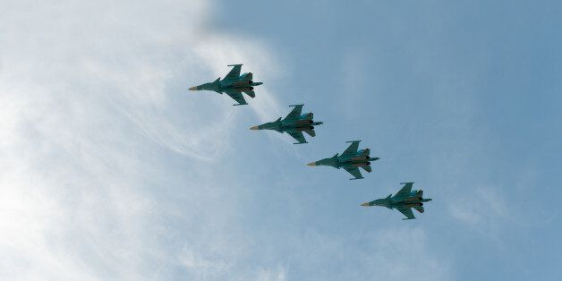 Group of airplanes Sukhoi