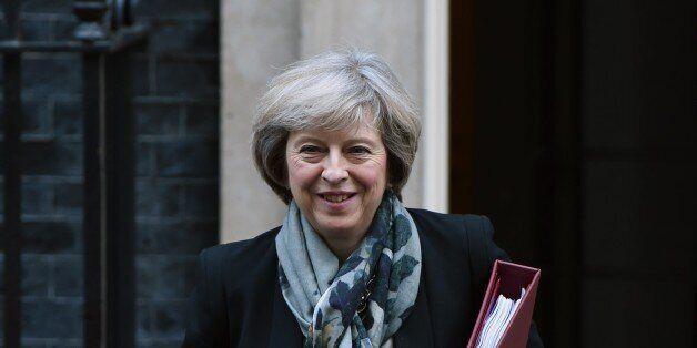 LONDON, UNITED KINGDOM - NOVEMBER 16: British Prime Minister Theresa May departs No.10 Downing street...