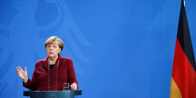 German Chancellor Angela Merkel speaks during a joint news conference with Spain's Prime Minister Mariano...