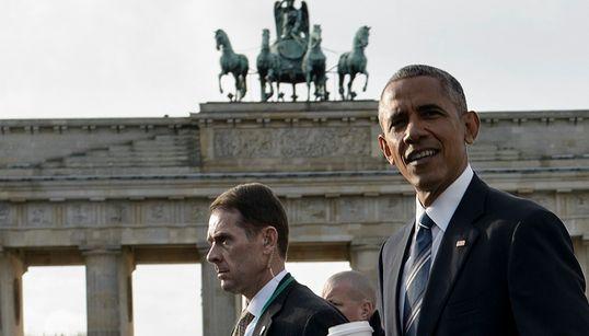 Φωτογραφίες από την άφιξη του Μπάρακ Ομπάμα στο Βερολίνο - Σε εξέλιξη η συνάντηση με την