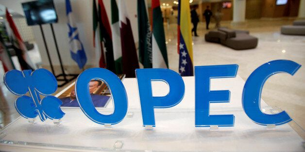 OPEC logo is pictured ahead of an informal meeting between members of the Organization of the Petroleum...
