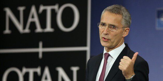 BRUSSELS, BELGIUM - OCTOBER 26 : Secretary General of North Atlantic Treaty Organization (NATO) Jens...