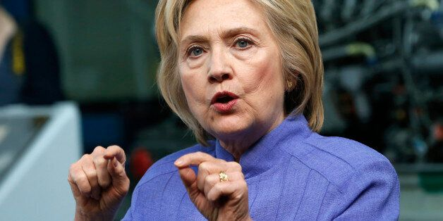 FILE - In this June 15, 2016, file photo, Democratic presidential candidate Hillary Clinton speaks in...