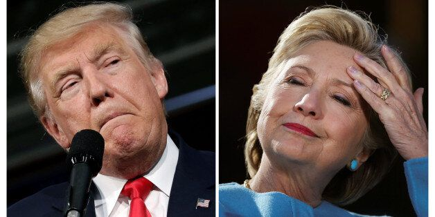 U.S. presidential candidates Donald Trump and Hillary Clinton attend campaign rallies in Ambridge, Pennsylvania,...