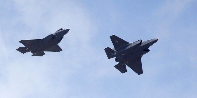 Two F-35 jets arrive at it's new operational base Wednesday, Sept. 2, 2015, at Hill Air Force Base, in...