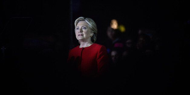 Hillary Clinton, 2016 Democratic presidential nominee, speaks during a campaign event in Philadelphia,...