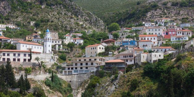 Dhermi (Greek: ????de?, Drymades) is one of the nine villages of the Himara region-municipality, in Albania....