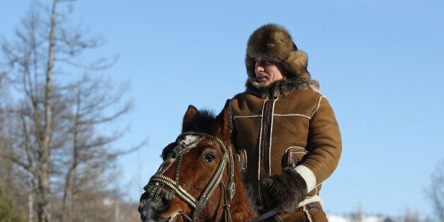 A picture released on March 6, 2010 shows Russian Prime Minister Vladimir Putin taking a horseback ride...