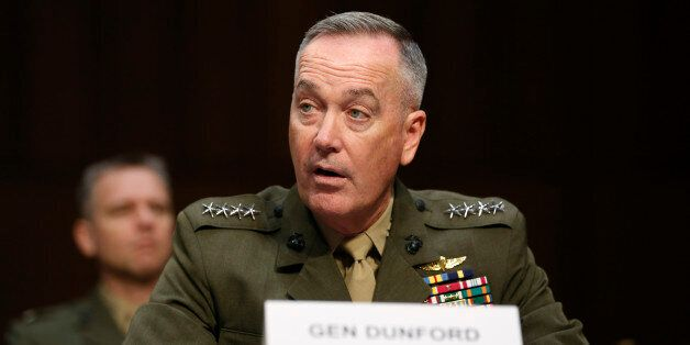 Joint Chiefs Chairman U.S. Marine General Joseph Dunford testifies on operations against the Islamic...