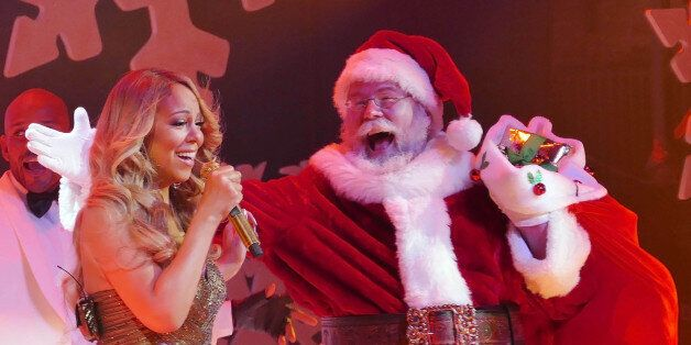 Photo by: XPX/STAR MAX/IPx copyright 2015 12/8/15 Mariah Carey performs at her Christmas Show at The Beacon Theater. (NYC)