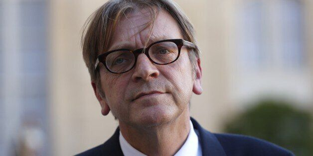 Guy Verhofstadt, Belgian member of the European Parliament, leader of the Alliance of liberals and Democrats...