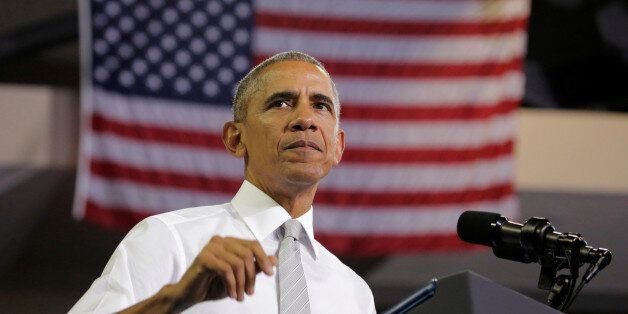 U.S. President Barack Obama speaks at a Hillary for America campaign event in Orlando, Florida, U.S.,...