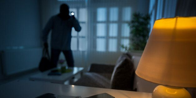 intrusion of a burglar in a house