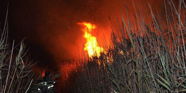 Μυτιλήνη: Σε εξέλιξη πυρκαγιά στη Μόρια. Δεν σχετίζεται με το hot spot της