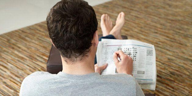 Man Doing Crossword