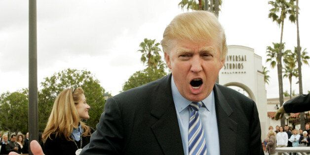Entrepreneur Donald Trump, host of the NBC television reality