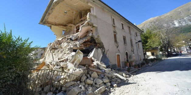 A destroyed house in the village of Pretare, near Arquata del Tronto, Italy, Tuesday, Nov. 1, 2016. Earthquake...