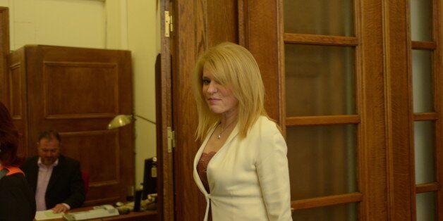 GREEK PARLIAMENT, ATHENS, ATTIKI, GREECE - 2016/05/10: Theodora Tzakri, Deputy Minister with responsibility...
