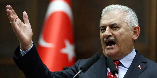 Turkish Prime Minister and the leader of Turkey's ruling party, the Justice and Development Party (AK...