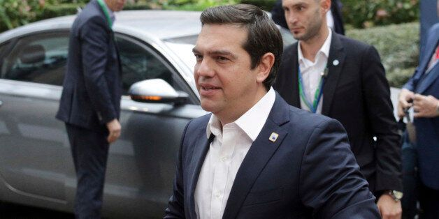 Greek Prime Minister Alexis Tsipras arrives for the EU summit in Brussels, Thursday, Oct. 20, 2016. British...
